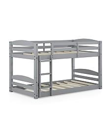 Dorel Living Wade Twin Floor Bunk Bed