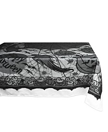 Design Imports Happy Halloween Lace Table Cloth