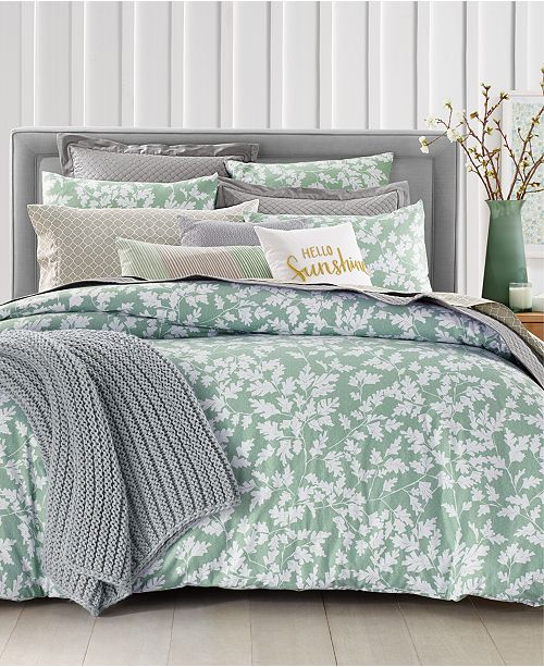 Charter Club Oak Leaf  Bedding Collection, Created for Macy's