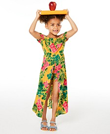 Little Girls Floral-Print Walkthrough Romper Dress, Created for Macy's