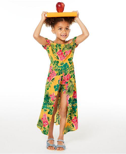 Epic Threads Little Girls Floral-Print Walkthrough Romper Dress, Created for Macy's