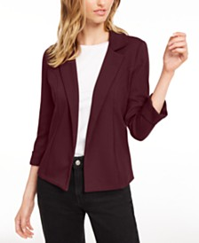 Maison Jules 3/4 Sleeve Knit Blazer, Created for Macy's