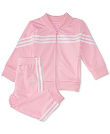 Baby Girls 2-Pc. Tricot Jacket & Jogger Pants Set