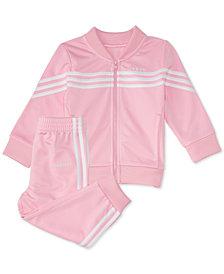 adidas Baby Girls 2-Pc. Tricot Jacket & Jogger Pants Set
