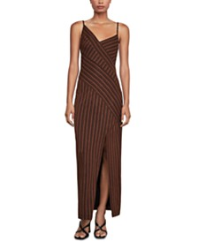 BCBGMAXAZRIA Mixed-Stripe Dress