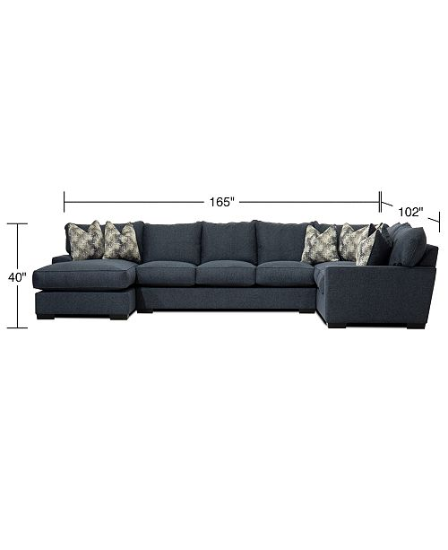 Fabric Chaise Sectional Sofa