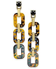 I.N.C. Gold-Tone Embellished Tortoise Drop Earrings, Created for Macy's