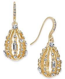 INC Gold-Tone Crystal Bulb Drop Earrings, Created for Macy's