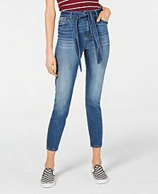 Belted Ankle Jeans