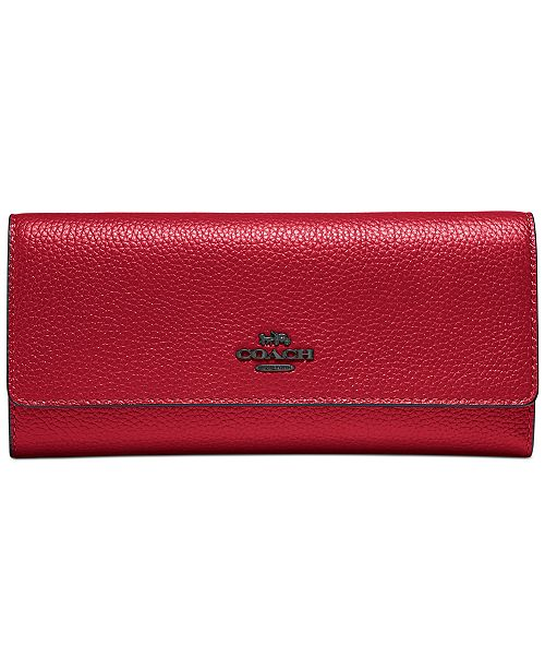 COACH Soft Leather Trifold Wallet
