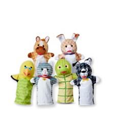 Melissa and Doug Pet Buddies Hand Puppets 6 Pc