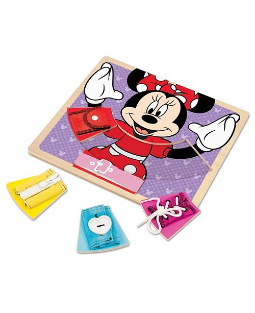 Melissa and Doug Minnie Wooden Basic Skills Board
