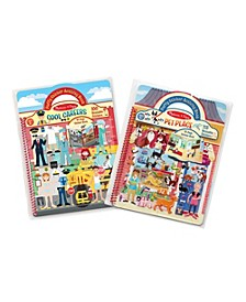 Puffy Sticker Activity Book Bundle - Cool Careers and Pet Place
