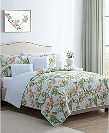 Chelsea Springs 4PC Twin XL Quilt Set