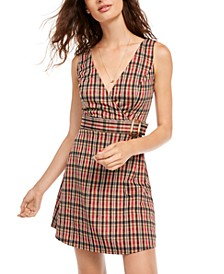 Juniors' Plaid Jumper Dress