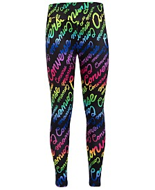 Converse Big Girls Script-Print Leggings
