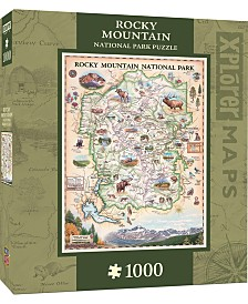 Masterpieces Rocky Mountain 1000 Piece Xplorer Map Puzzle