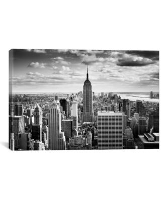 "Nyc Downtown by Nina Papiorek Wrapped Canvas Print - 26"" x 40"""