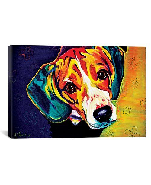 "iCanvas Beagle Bailey by Dawgart Wrapped Canvas Print - 40"" x 60"""