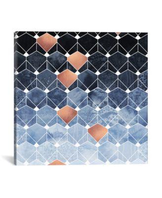 "Copper Diamonds by Elisabeth Fredriksson Wrapped Canvas Print - 18"" x 18"""