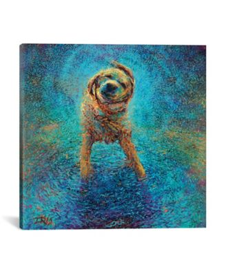 """Shakin` Off The Blues by Iris Scott Wrapped Canvas Print - 18"""" x 18"""""""