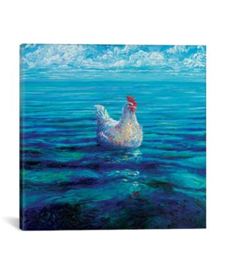"""Chicken Of The Sea by Iris Scott Wrapped Canvas Print - 37"""" x 37"""""""