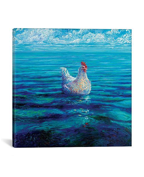 """iCanvas Chicken Of The Sea by Iris Scott Wrapped Canvas Print - 37"""" x 37"""""""