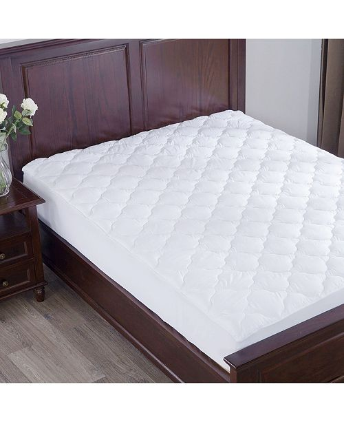 Puredown Top Alternative Mattress Pad Four-Leaf Clover Quilted Full