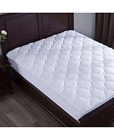 Cotton Top Down Alternative Mattress Pad Diamond Quilted Full