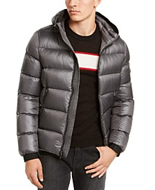 Men's Slim-Fit Hooded Water Resistant Down Jacket