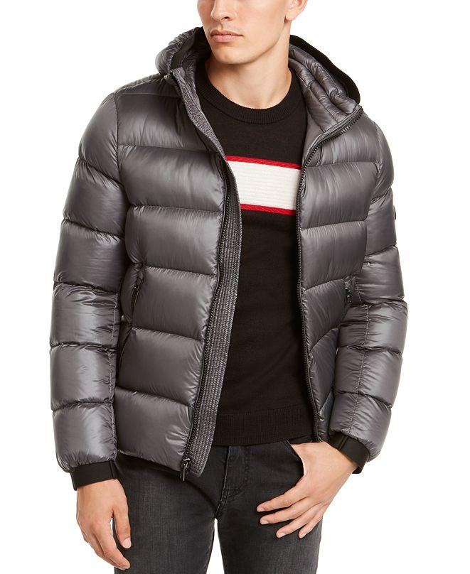 Calvin Klein Men's Slim-Fit Hooded Water Resistant Down Jacket
