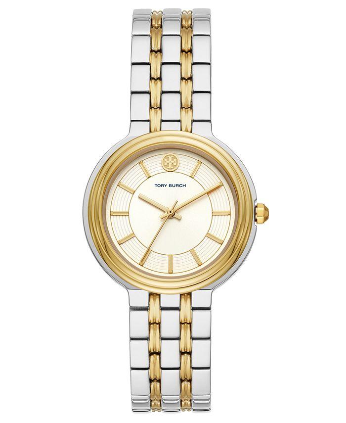 Tory Burch - Women's Bailey Two-Tone Stainless Steel Bracelet Watch 34mm