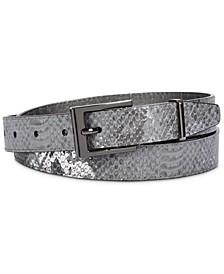 Metallic Snake-Embossed Belt