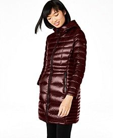 Petite Hooded Packable Puffer Coat, Created for Macy's
