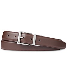 Men's Reversible Leather Dress Belt