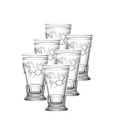 La Rochere Versailles 12-ounce Double Old Fashioned Glass, Set of 6