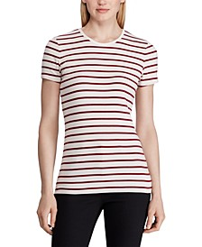 Stripe-Print Stretch T-Shirt