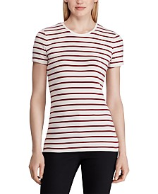Lauren Ralph Lauren Stripe-Print Stretch T-Shirt