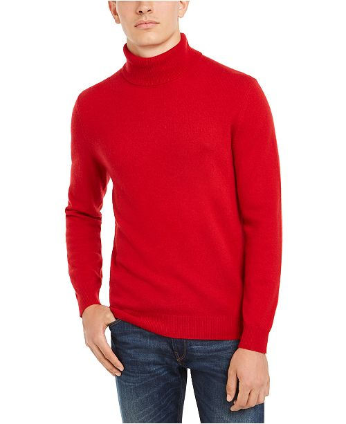 Club Room Men's Cashmere Turtleneck Sweater, Created for