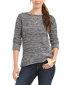 Petite Marled-Knit Sweater, Created For Macy's