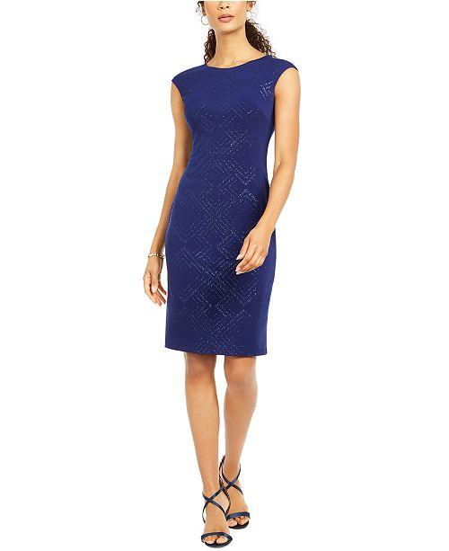 Jessica Howard Sparkle Jersey Sheath Dress