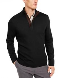 Tasso Elba Men's Textured 1/4-Zip Sweater, Created For Macy's