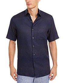 Men's Geo-Print Linen Shirt, Created for Macy's