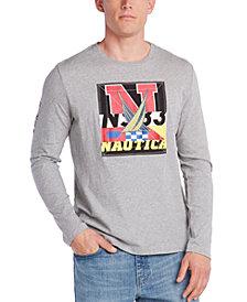 Nautica Men's Blue Sail Logo Long Sleeve T-Shirt, Created for Macy's