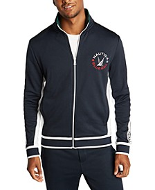 Men's Blue Sail Full-Zip French Terry Jacket, Created for Macy's