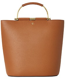 Pebbled Leather Leyton Tote