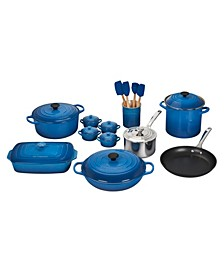 20-Pc. Mixed Material Cookware Set