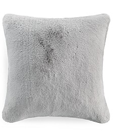"Solid Faux Fur 20"" x 20"" Decorative Pillow, Created for Macy's"