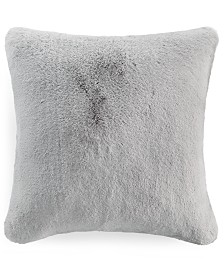 "Martha Stewart Collection Solid Faux Fur 20"" x 20"" Decorative Pillow, Created for Macy's"