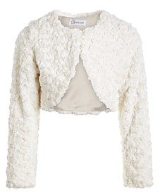 Little Girls Cropped Faux-Fur Cardigan